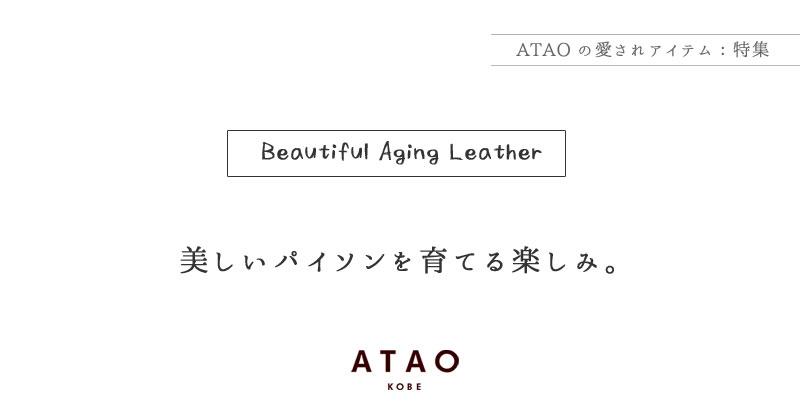 ATAO(アタオ) パイソンレザーを育てる楽しみ
